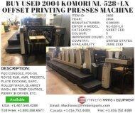 Buy Used 2004 Komori NL-528+LX Offset Printing Presses Machine