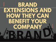 Brand Extensions and How They Can Benefit Your Company