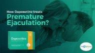 How Dapoxetine treats Premature Ejaculation?