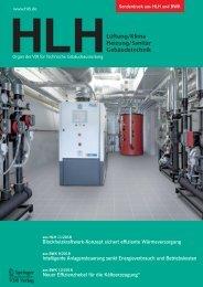 Blockheizkraftwerk-Konzept sichert effiziente Wärmeversorgung - HLH/Sonderdruck