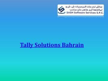 Tally ERP Solutions Bahrain