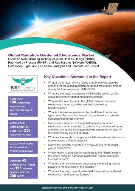 Radiation Hardened Electronics Market Trends
