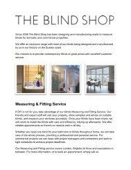 Buy Blinds Online at The Blind Shop
