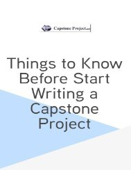 Things to Know Before Start Writing a Capstone Project