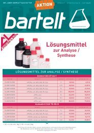 Bartelt Aktion Chem-Lab Lösungsmittel