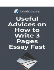 Useful Advice on How to Write 3 Pages Essay Fast