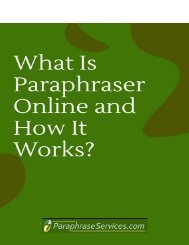 What Is Paraphraser Online and How It Works