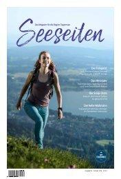 Seeseiten – das Magazin für die Region Tegernsee, Nr. 56, Ausgabe Frühling 2019