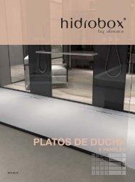 Hidrobox - Catálogo + Tarifa - 2018 - Platos de ducha y paneles