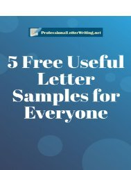 5 Free Useful Letter Samples for Everyone