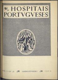 Hospitais Portugueses ANO V n.º 21 janeiro-fevereiro 1953
