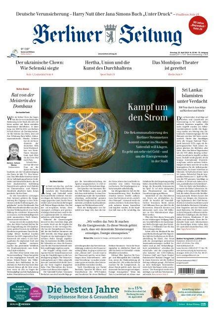 Berliner Zeitung 23.04.2019