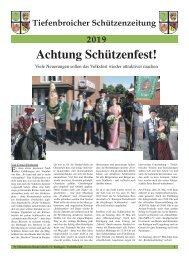 Tiefenbroicher Schützenzeitung 2019