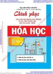 Hóa học 11 Chinh phục câu hỏi vận dụng cao trong bài thi KHTN kì thi THPT QG (Đề bài)