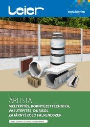 Leier mélyépítés környezettechnika árlista 2019