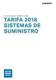 Geberit - Tarifa - Sistemas de suministro