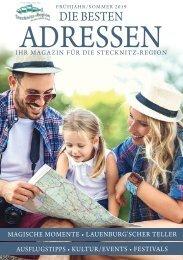 Die Besten Adressen - Ihr Magazin für die Stecknitz-Region April 2019