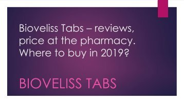 Bioveliss Tabs In Italy