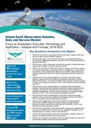 Earth Observation Satellite Data and Service Market