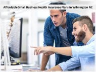 Affordable Small Business Health Insurance Plans in Wilmington NC