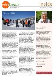 Reisekreativ Kundenmagazin
