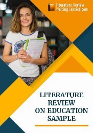 Literature Review on Education Sample