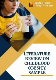 Literature Review on Childhood Obesity Sample