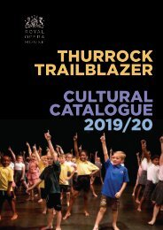 Thurrock Trailblazer Cultural Catalogue 2019-20