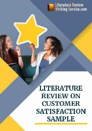 Literature Review on Customer Satisfaction Sample