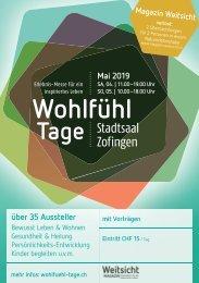 Programmheft Wohlfühl-Tage Erlebnis-Messe Zofingen 2019