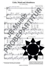 Liebe Mond und Abendstern (für Bariton-Solostimme und Klavierbegl.)