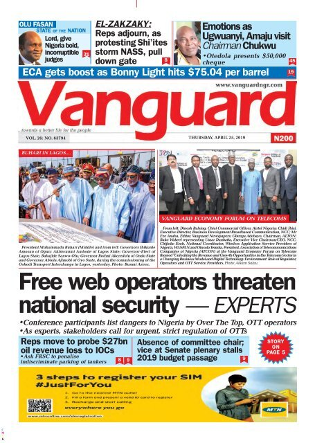 25042019 - Free web operators threaten national security — EXPERTS
