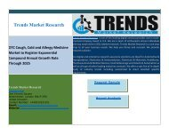 OTC Cough, Cold and Allergy Medicine Market to Register Exponential Compound Annual Growth Rate Through 2025