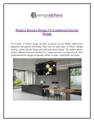 Modern Interior design vs Traditional Interior design
