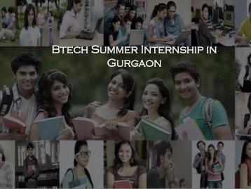 Btech Summer Internship in Gurgaon