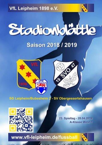 Stadionblättle VfL Leipheim