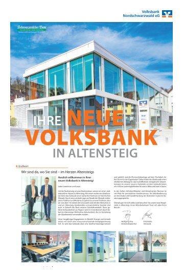 Ihre neue Volksbank in Altensteig