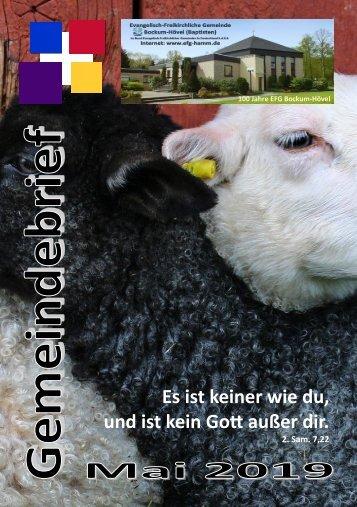 Gemeindebrief Mai 2019