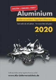 Aluminium Lieferverzeichnis 2019 - Leseprobe