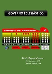 APOSTILA  GOVERNO ECLESIASTICO FORMAS DE GOVERSO