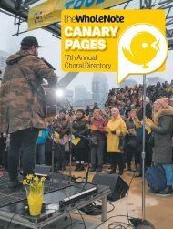 Canary Pages | 17th Annual Choral Directory