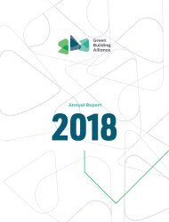 2018 Green Building Alliance Annual Report