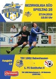 20190427 Fuggermärktler TSV 1862 Babenhausen – 1. FC Sonthofen II