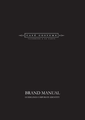 Brand manual guidelines