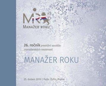 26. ročník prestižní soutěže manažerských osobností MANAŽER ROKU, 25. duben 2019 | Palác Žofín, Praha