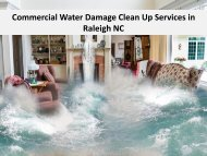 Commercial Water Damage Clean Up Services in Raleigh NC