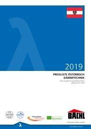 Bachl Dammstoff Preisliste 2019