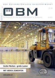 2019-4 OEBM Der Österreichische Baustoffmarkt - ARDEX - Große Flächen, große Lasten