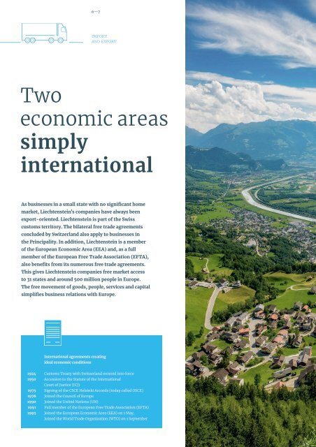 "Magazine ""Liechtenstein as a business location - simply successful"""