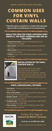 Common Uses for Vinyl Curtain Walls